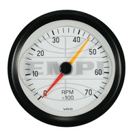 VW BUG AIR COOLED, VDO COCKPIT WHITE TACH,7000 RPM, 3-1/8  333251