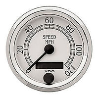 VW BUG AIR COOLED, VDO COCKPIT ROYAL SPEEDOMETER ,120 MPH, 3-1/8  437750