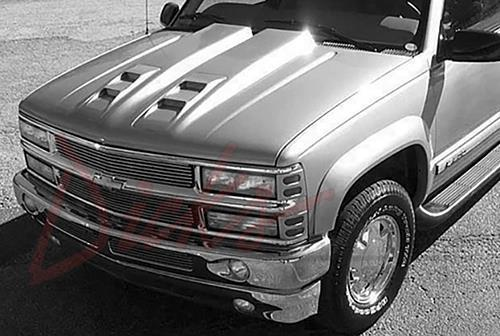 NEW 92 99 Chevy Suburban Tahoe 2 Steel Reflexxion Dual Cowl Hood W Ram Air