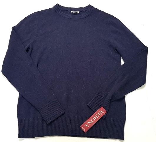 5c6bf00edb5f Merona Men's Long Sleeved Crew Neck Pullover Knit Sweater Eggplant Purple  Medium
