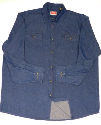1d7b047399 Wrangler RIGGS WORKWEAR Men s Big and Tall Denim Work Shirt Relaxed Fit 2XT  Blue