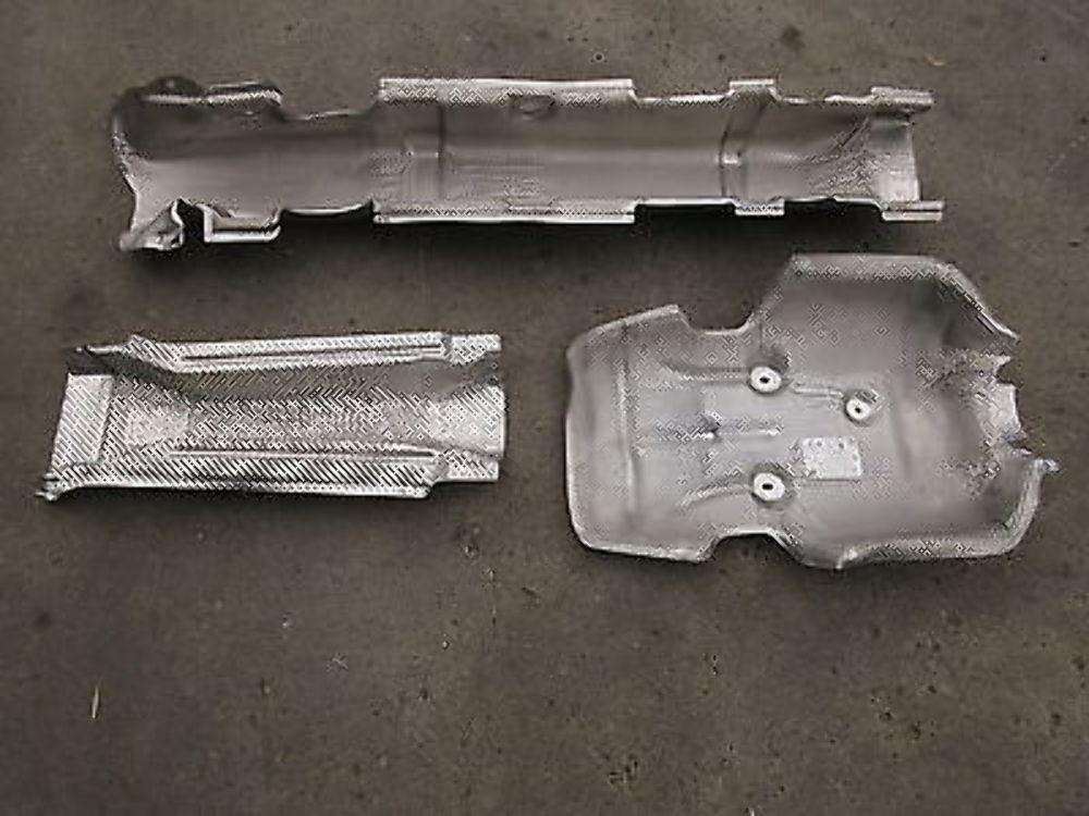 10 Mini Cooper S R56 #1003 Muffler Exhaust Heatshield Insulation Trim Set