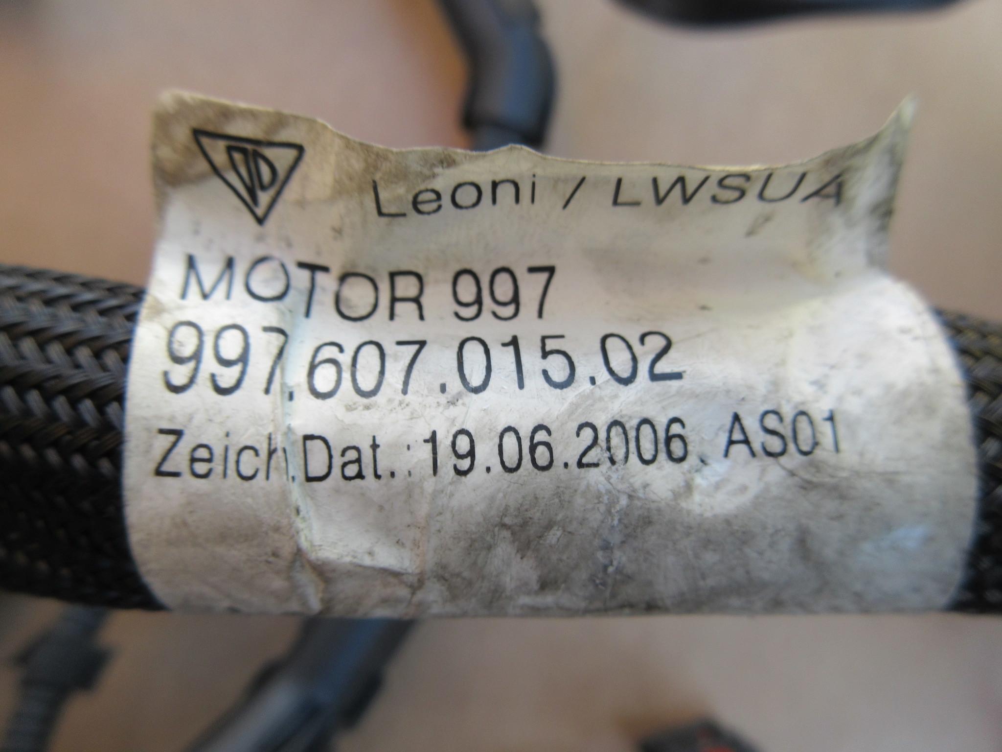 07 Porsche 911 Turbo 997 1031 997tt 36l Engine Wire Wiring Harness 99760701502