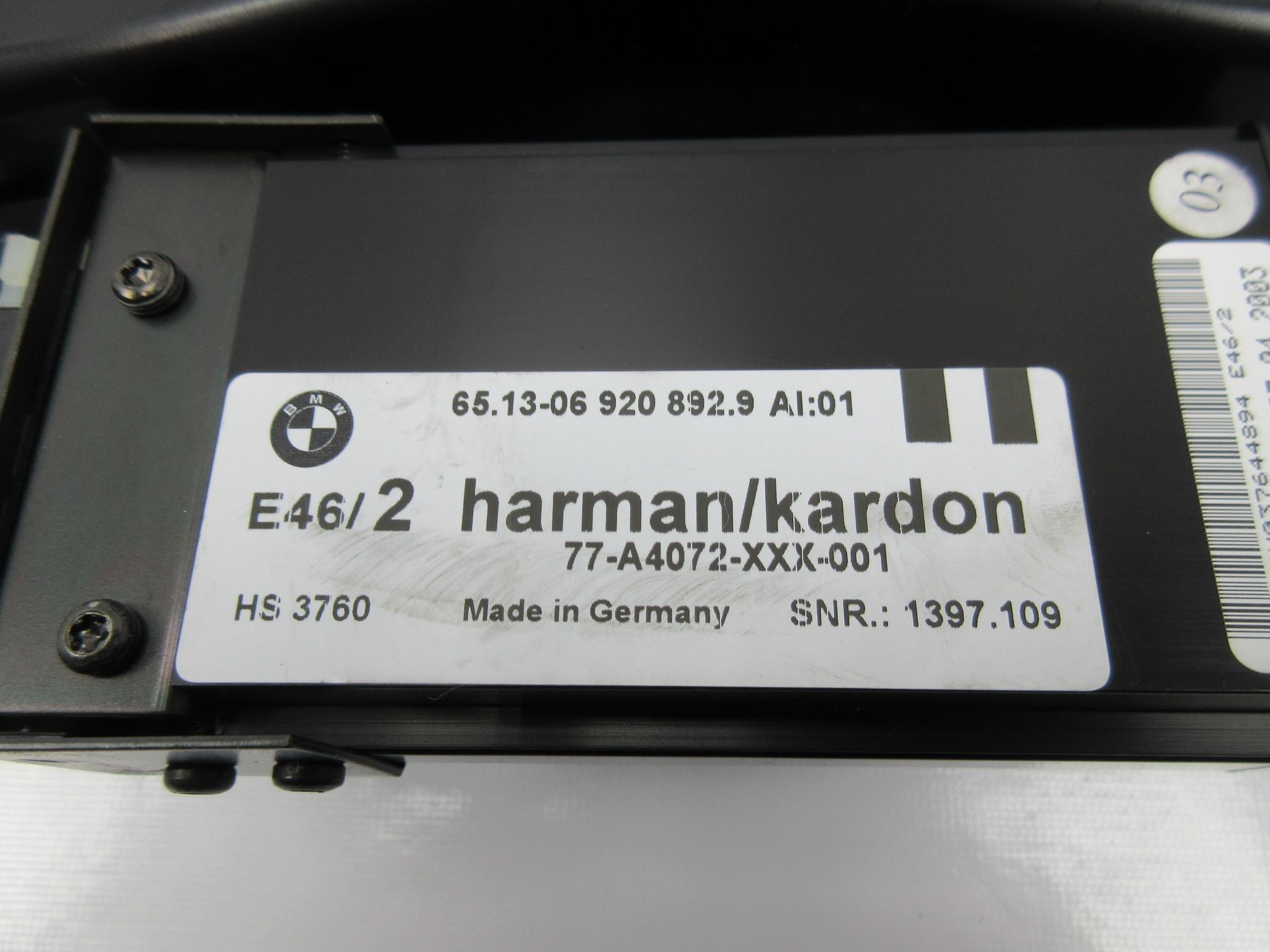 2003 Bmw M3 E46 1039 Harman Kardon Subwoofer Amplifier 6920857