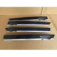09 BMW 750i F01 #1008 Anthracite Wood Door Panel Trim Set