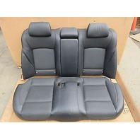 09 BMW 750i F01 #1008 Black Leather Heated Rear Seats W/ Ski Pouch