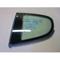 2002 Maserati M138 Coupe 4200GT Drivers Side Rear Quarter Window/Glass