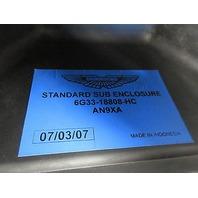 07 Aston Martin V8 Vantage Roadster #1014 Subwoofer Enclosure 6G33-18808-HC