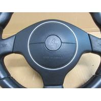 04 Lamborghini Murcielago #1025 Black Steering Wheel, Airbag & Clockspring OEM