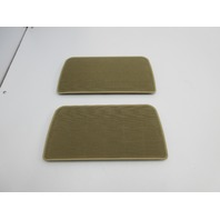 2000 BMW 740il 740i E38 #1035 Rear Deck Parcel Shelf Speaker Cover Pair Tan