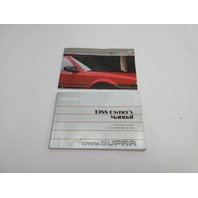 1988 Toyota Supra MK3 #1042 OEM Original Factory Owners Manual Set
