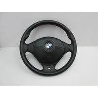 1999 BMW Z3 M Roadster E36 #1043 3-Spoke Leather Steering Wheel & Airbag