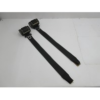 1999 BMW M3 E36 Convertible #1046 Front Left & Right Seat Belt Pair Black