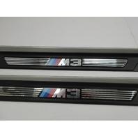 """01-06 BMW M3 E46 #1047 """"M3"""" Script Door Sills Scuff Trim 51478204114 51478204114"""