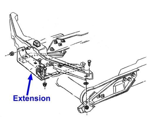 Corvette Original Front Bumper Energy Bar Extension Bracket Brace