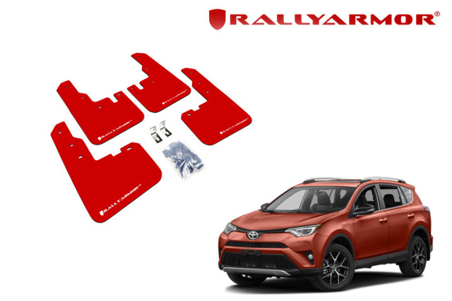 Rally armor ur red mud flaps w white logo for 2013 2015 toyota rav4 rally armor ur red mud flaps w white logo for 2013 2015 toyota rav4 publicscrutiny Images