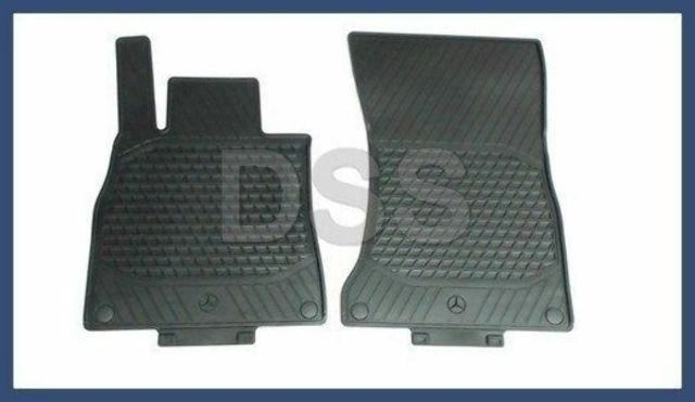 9f1135f8729 NEW Genuine Mercedes All Season Rubber Mats S Class V222 Black Front Set  2014 +
