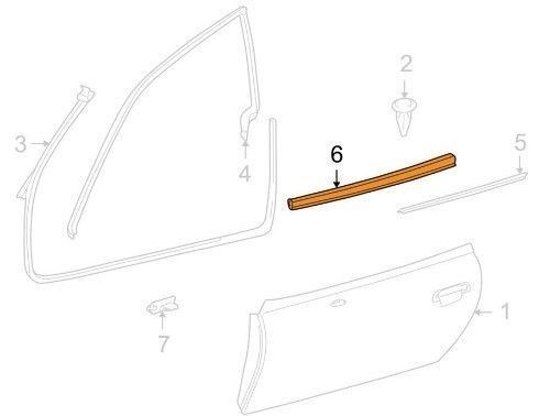 BMW Replacement Belt Moulding New
