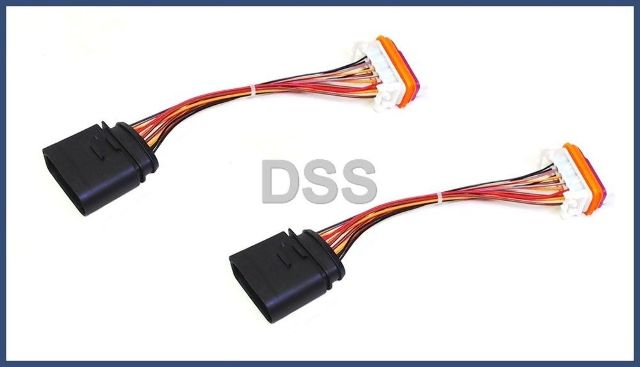 95563123911x2 genuine porsche headlight wiring harness cayenne lamp xenon front connector x2 293619842 2004 porsche cayenne turbo new wiring harness 2004 porsche cayenne  at mifinder.co