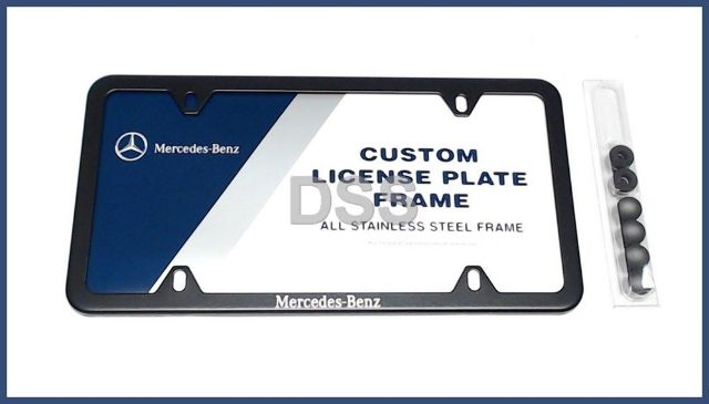 Genuine Mercedes Benz License Plate Frame OEM Trunk Black w ...