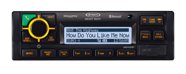 JENSEN JHD36AB AM//FM//WB//CD//RBDS//USB//AUX//Bluetooth//SiriusXM iPhone Ready Stereo