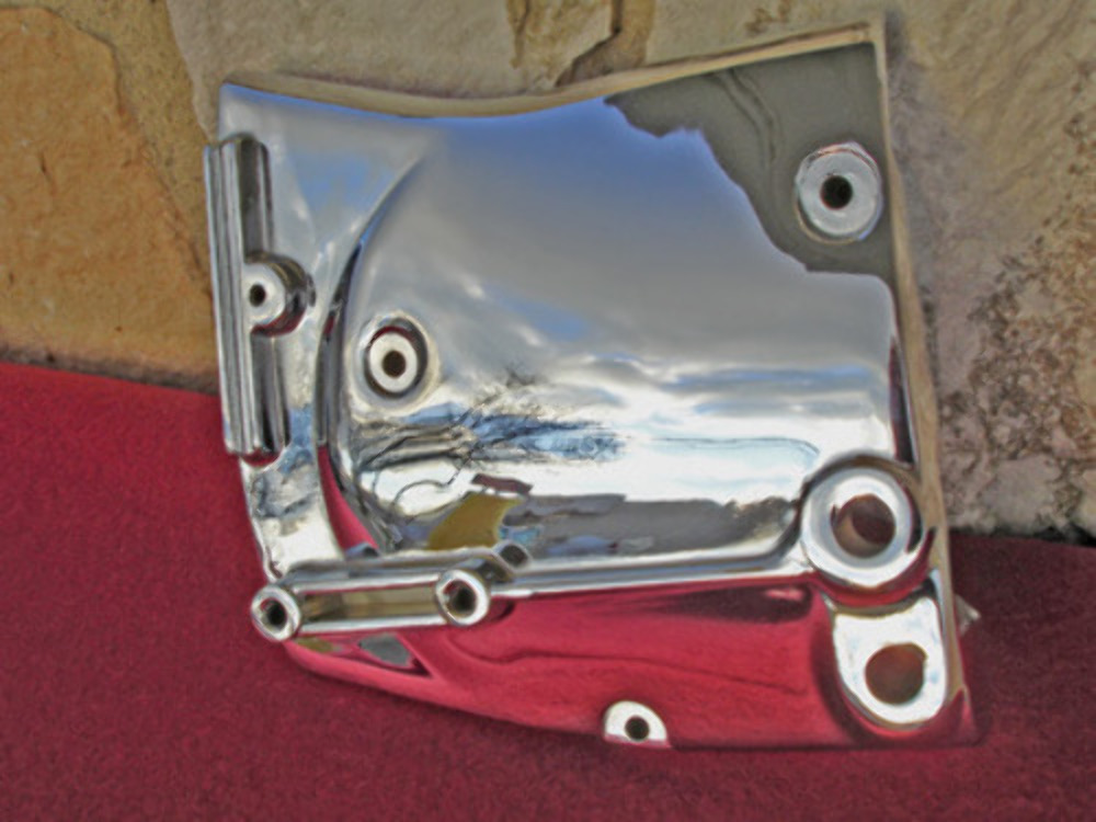 CHROME SPROCKET COVER FOR HARLEY SPORTSTER PARTS 1982-90 REPL 34911-81A