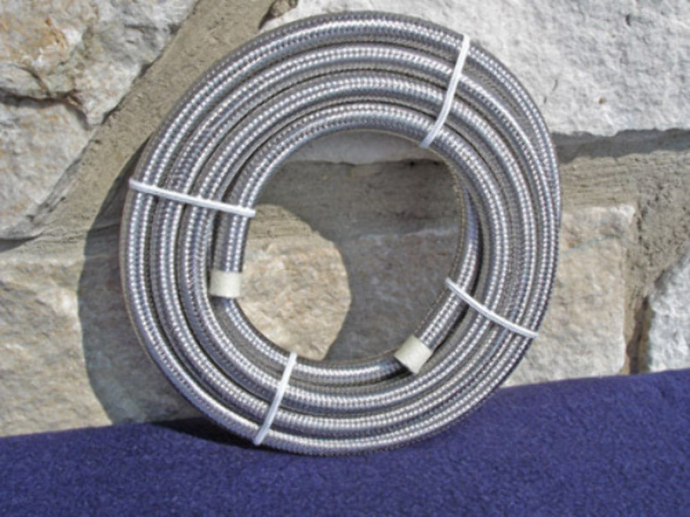 """5/' Roll 5//16/"""" x 9//16/"""" Stainless Steel Braided Oil//Fuel Line for Harley C01160546"""
