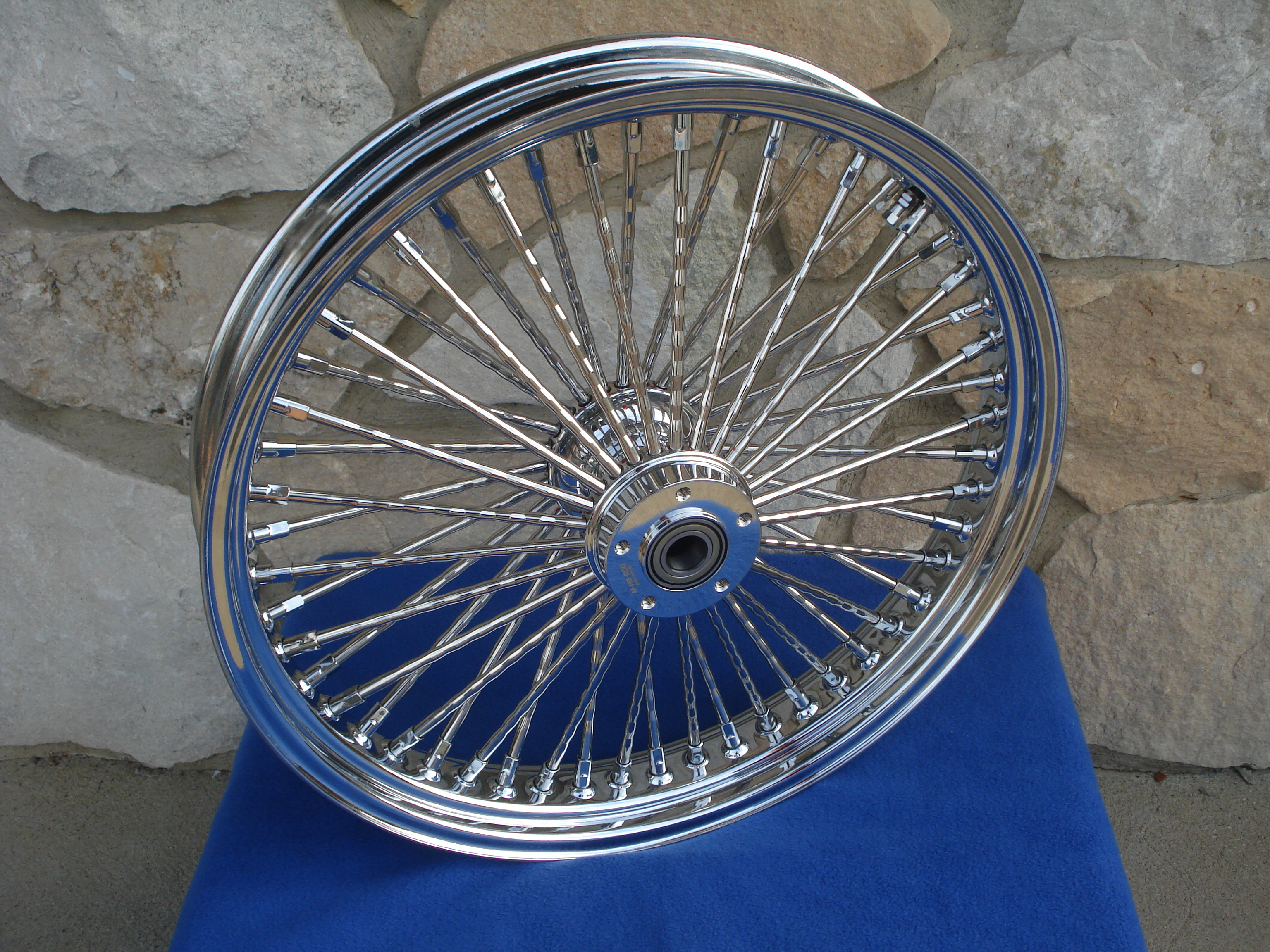 "21X3  & 16X3.5"" DNA MAMMOTH 52 DIAMOND SPOKE WHEEL SET 2012-UP ABS HARLEY DELUXE"