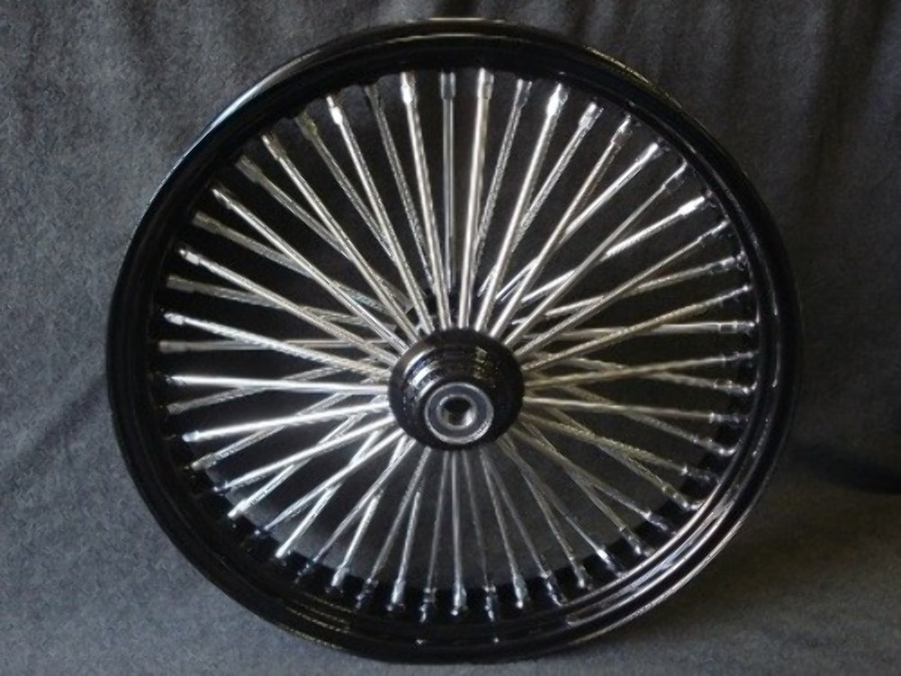 """21X3.5"""" DNA MAMMOTH 52 SPOKE SINGLE DISC FRONT WHEEL HARLEY TOURING 2000-07"""