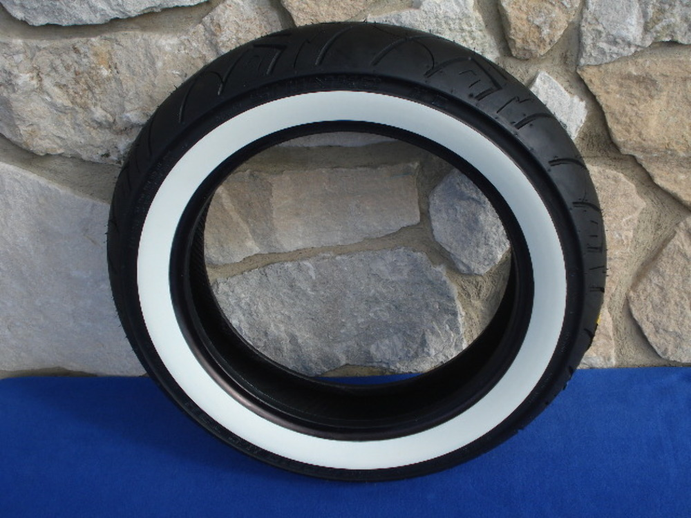 130//90-16 Reinforced Shinko 777 Front Tire Whitewall