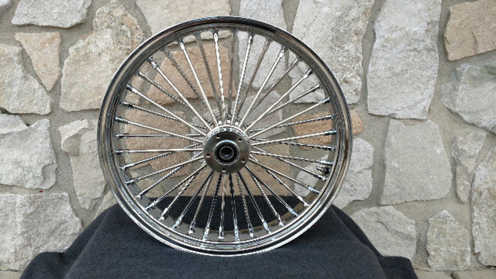"""16X3.5"""" DNA FAT SPOKE MAMMOTH REAR WHEEL FOR HARLEY SOFTAIL HERITAGE DELUXE 08 UP ABS"""