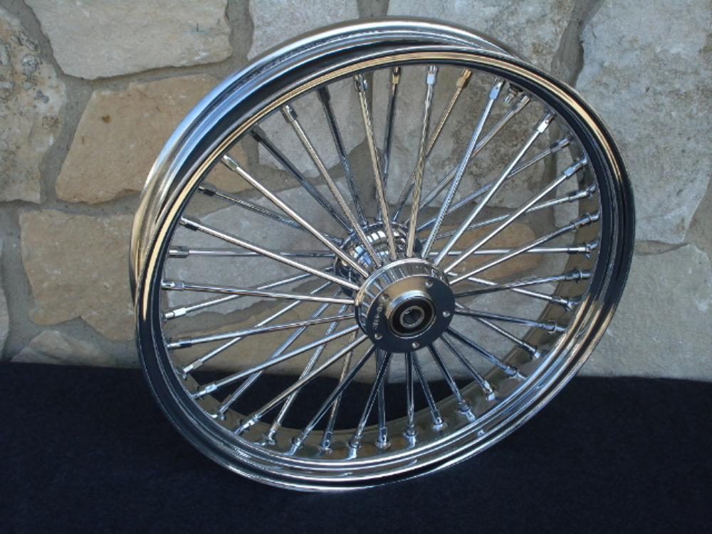 """23X3.5"""" ABS 08-UP DNA FAT 40 SPOKE MAMMOTH FRONT WHEEL HARLEY TOURING BAGGER"""