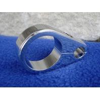 "CHROME 1 3/8"" SMOOTH CABLE CLAMP FOR KRAFT TECH MEGA FRAMES"