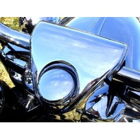 CHROME FORK LOCK COVER  PARTS FOR HARLEY ROAD KING 1994-UP REPL OE  #  71659-99A