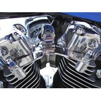 CHROME MOTOR MOUNT FOR HARLEY BIG TWIN SHOVELHEAD 1948-84 REPL OE # 16853-48