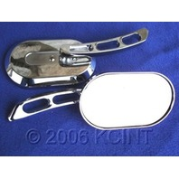 CUSTOM OVAL MIRRORS FOR MOST HARLEYS ROAD KING ULTRA  REPLACES  OE  #  91695-98