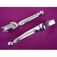 WIDE CHROME LEVERS FOR HARLEY HERITAGE FATBOY 1982-95