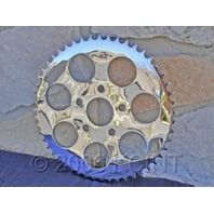 REAR CHROME SPROCKET 49 TOOTH PARTS FOR HARLEY CHOPPERS