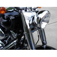 CHROME 5 PC FORK COVER KIT PARTS FOR HARLEY FAT BOY HERITAGE DELUXE