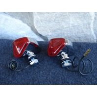 MINI DIAMOND MARKER LIGHTS WITH RED LENS FOR HARLEY