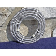 """25 FT. 38"""" ID BRAIDED HOSE STAINLESS STEEL OIL LINE FOR HARLEY AND CHOPPERS"""