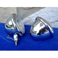 CHROME SPOTLIGHTS 50-RP54067-05 HEADLIGHTS PARTS FOR HARLEY & INDIAN