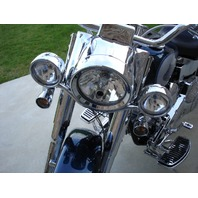 FOR HARLEY HERITAGE FATBOY DELUXE ROAD KING TOURING FLT SPOTLIGHTS