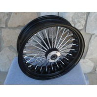 "18x5.5"" Black Fat Spoke Rear Wheel for 200 Series Frames and Custom Applications"
