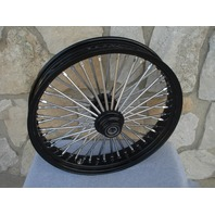 "21"" 3.5 BLACK FAT SPOKE S/D FRONT WHEEL HARLEY HERITAGE FAT BOY DELUXE 00-06"