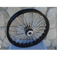 21X3.5 BLACK DNA FAT 52 SPOKE  2000-07 MAMMOTH WHEEL HARLEY TOURING
