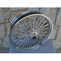 "21X3.5"" SINGLE DISC 48 FAT KING SPOKE FRONT WHEEL HARLEY TOURING, FXST 2000-07"