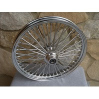 "21x2.15"" CHROME FAT 48 SPOKE S/D FRONT WHEEL HARLEY FXST 2000-07 FXDWG 2000-07"