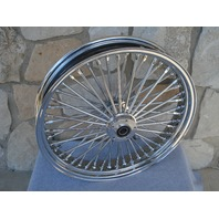 21X3.5 FAT SPOKE DUAL DISC FRONT WHEEL FOR 08-UP HARLEY FLT TOURING BAGGERS