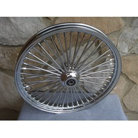 21X2.15 FAT SPOKE SINGLE DISC FRONT WHEEL HARLEY SPORTSTER 2000-07 DYNA NG 00-03